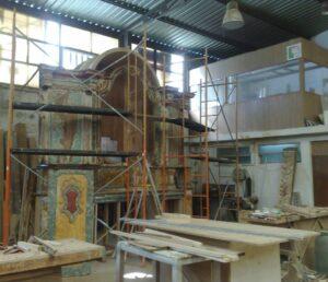 restauros de madeiras altar